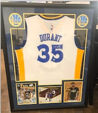Signed Kevin Durant official jersey professionally framed
