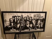 Massive mobster movie painting 51 inches long and 27 inches tall. Comes with black frame Peekskill, 10566