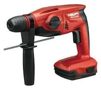 red and black cordless hand drill Woodstock