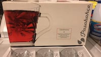 Clear glass good size with box Burke, 22015