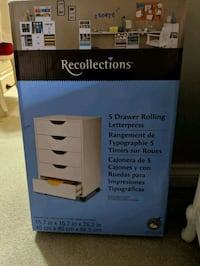 Scrapbook rolling cabinet/drawers