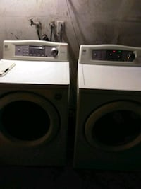 two white front-load clothes washer and dryer set Palmdale, 93551
