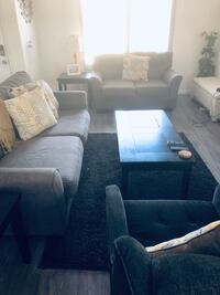 Charcoal sofa! (Coffee and end tables for sale also) Riverside, 92505