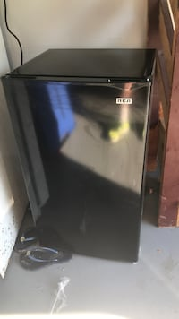 Black and gray haier compact refrigerator Herndon, 20170