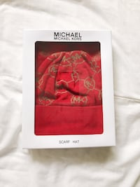 Red Michael Kors hat and scarf (brand new) Rockville, 20851