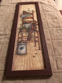 brown wooden framed painting of house Clear Spring, 21722