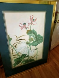 green and white flower painting with black wooden  Boynton Beach, 33435