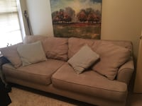 Pending pick up- Microfiber beige couch Irving, 75061