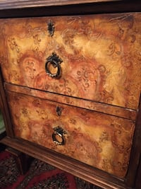 Pair of Hand Painted Wood Bedside Tables