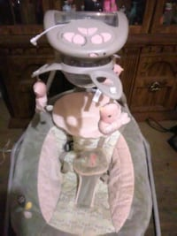 white and pink Fisher-Price cradle and swing Tonopah, 89049