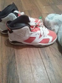 pair of white-and-red Nike basketball shoes Atlanta, 30345