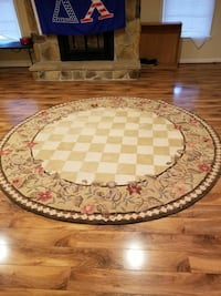 round brown and white floral area rug Woodbridge, 22191