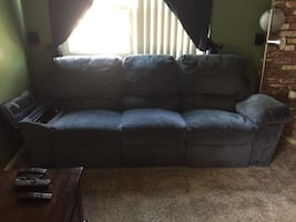 Sofa with heater and massage