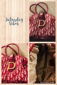 red and brown floral print tote bag Nederland, 77627