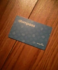 COMPASS CARD + 63.75$ STORED VALUE Surrey