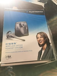 Plantronics CS55 Wireless Office Headset System Bundle with Headset Advisor Wipe Sterling, 20164