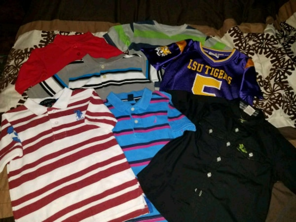 buy online 5ac71 85070 7 little boys dress shirts and one LSU Jersey
