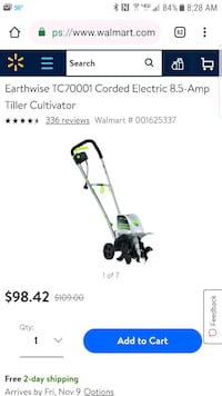 Earthwise corded electric 8.5amp tiller cultivator Newport News, 23601
