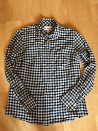 J. Crew ladies gingham black and white shirt, size 0 - $10 Mississauga, L5L 5P5