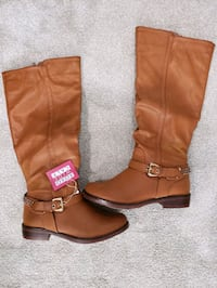 Brown boots 8.5 wide calf Baltimore, 21224