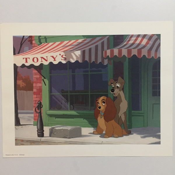 Lady and the Tramp lithographic