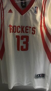 white and red Houston Rockets 13 jersey James Harden size xl