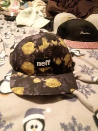 black and brown floral print cap Marion, 52302