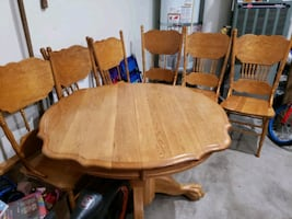 dining table with extension and 6 chairs