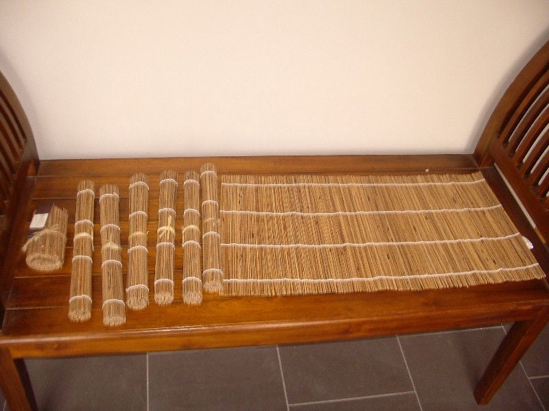 New. Very cool bamboo placemats, coasters and runner set b1fb79c3-440d-4233-8093-723dc9cc31e5