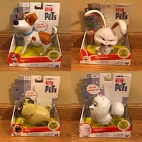 NEW The Secret Life of Pets Lot of 4 Walking Talking Toys  Naperville, 60563