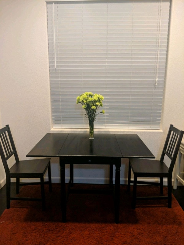 Astonishing Ikea Dining Table With Drop Leaf And 2 Chairs Ibusinesslaw Wood Chair Design Ideas Ibusinesslaworg