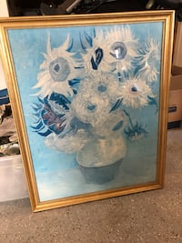 white and blue flower painting Frederick, 21704