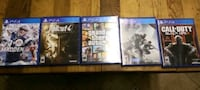 5 ps4 games all in good condition Arlington, 76013