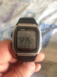square silver Casio digital watch with black strap Edmonton, T5W 2X2
