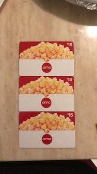 Amc gift cards 3 for 40 San Jose, 95118