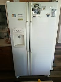 white side-by-side refrigerator with dispenser Murphy, 75094