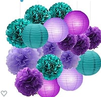 Turquoise, Teal, Blue , Purple and Green Party Decorations New York, 10457