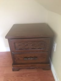 brown wooden 2-drawer nightstand South Huron, N0M 1T0
