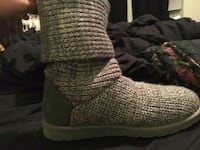 pair of grey knitted boots Panama City