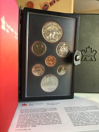 1980 Vintage Royal Canada Mint Proof Set - 50% $1 Silver