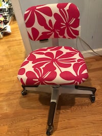 white and red floral padded chair Mc Lean, 22102