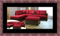 Red sectional with ottoman Manassas, 20108