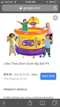 Little tikes inflatable basket ball