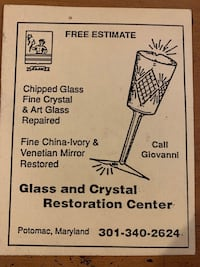 Glass and Crystal Repair Rockville