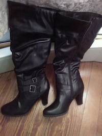 New Black knee high boots size 10. Revere
