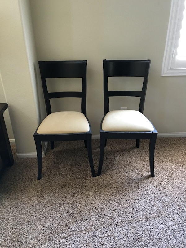 Two pottery barn Meyer chairs