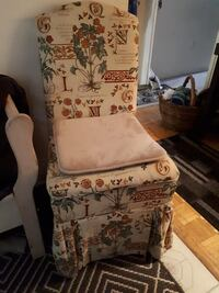 white and brown floral padded armchair Brampton