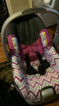 baby's black, white, and purple car seat carrier Baltimore, 21213