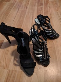 3 in black heels.  Size 6. $4 each  null