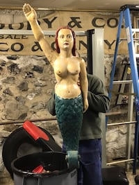 Antique boat mermaid wood figurehead  hand carved sculpture large antique mermaid Concord, 03301